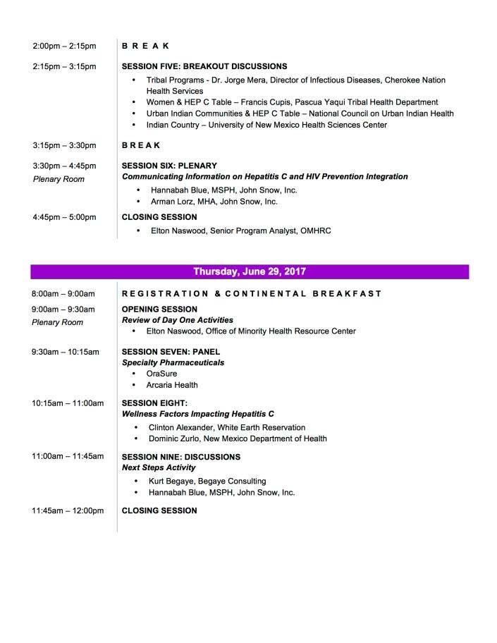 2017 SW Hep C Draft Agenda Pg 2