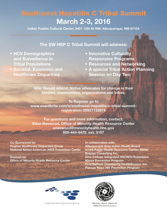 HEP C Tribal Summit Flyer